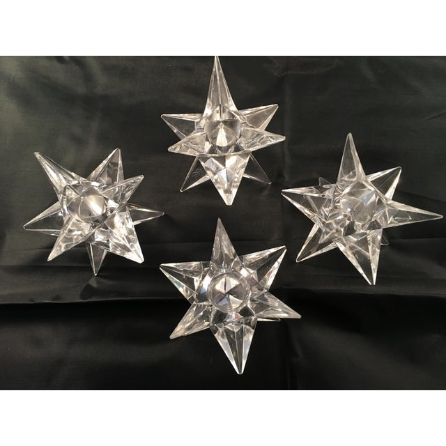 Image of Rosenthal Crystal Star Candle Holders - 4