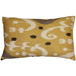 Pillow Decor - Indah Ikat Yellow 12x20 Pillow