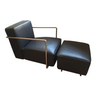 Flexform A.B.C. Chair & Ottoman by Antonio Cittero