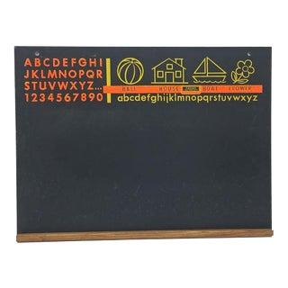 Vintage Modern Children's Alphabet Chalkboard