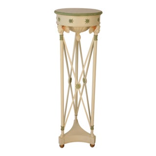 Ivory Painted Angel Pedestal