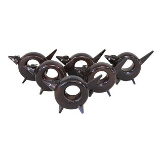 Rosewood Dog Napkin Rings - Set of 6