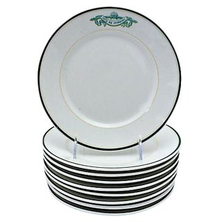 French Limoges Hotel Ware Plates - Set of 9