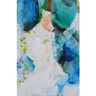 """Iris"" Mixed Media Painting"