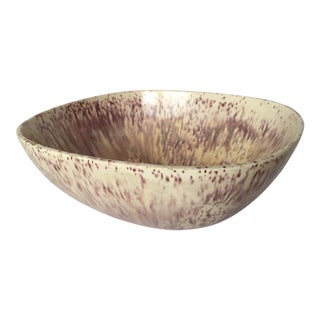Purple & Oatmeal Danish Modern Bowl