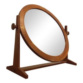 Pedersen & Hansen Teak Round Tilt Mirror
