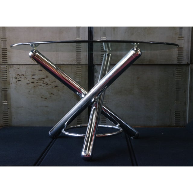 Chrome Tripod Dining Table - Image 2 of 6