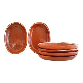 Oval Terracotta Plates - Set of 6