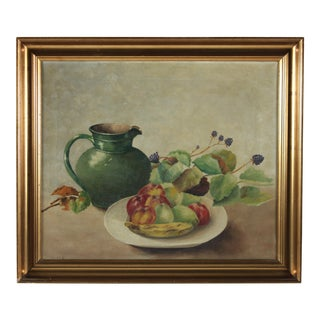 Oil Painting 'Pitcher & Fruit'