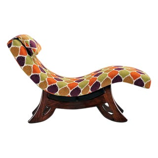 Jewel Pattern Retro Chaise Lounge