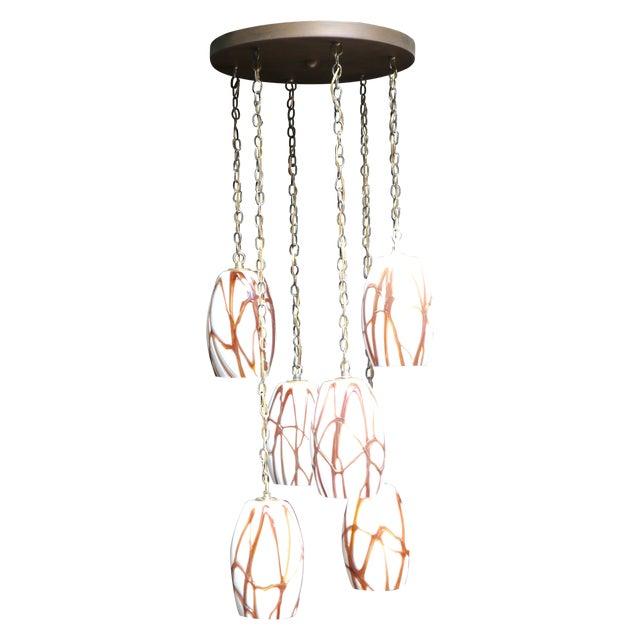 Murano Glass 6 Pendant Light Fixture