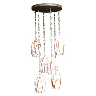 Murano Glass 6-Pendant Light Fixture