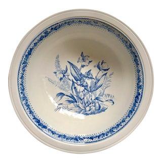 Large Antique Blue & White Transferware Bowl