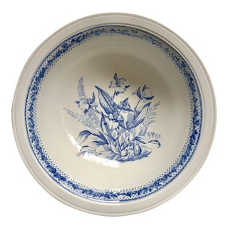 Large Blue & White Transferware Bowl