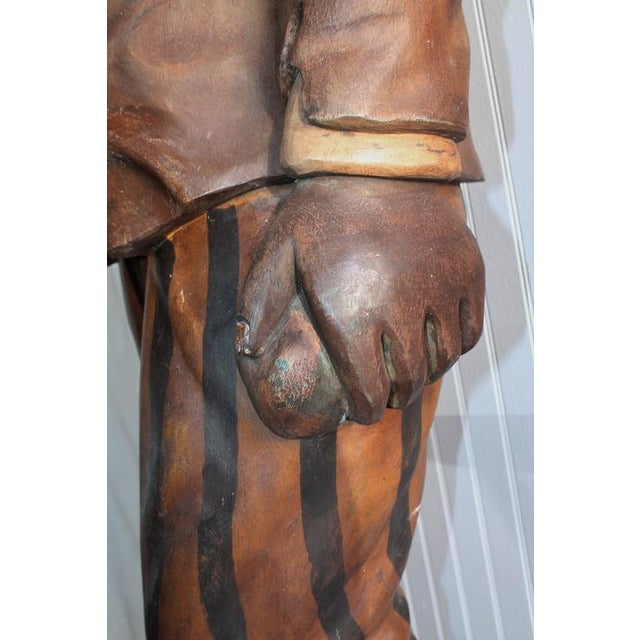 Hand-Carved and Painted 19th Century Cigar Store Figure - Image 8 of 10