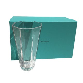 Tiffany Contemporary Octagonal Crystal Vase