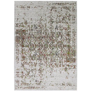 Contemporary Orange & Green Distressed Rug - 8' x 10'7''