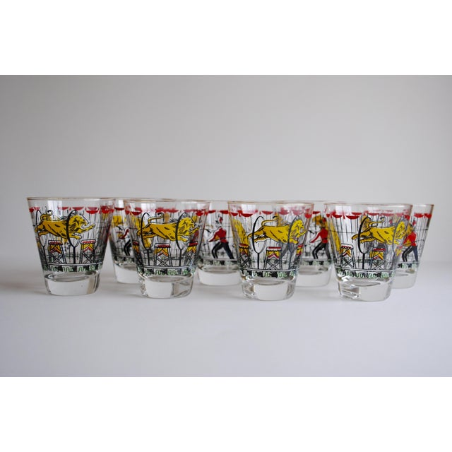 Vintage Circus Theme Whiskey Glasses - Set of 8 - Image 7 of 11