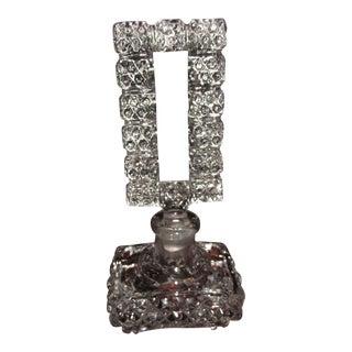 Vintage Art Deco Glass Perfume Bottle