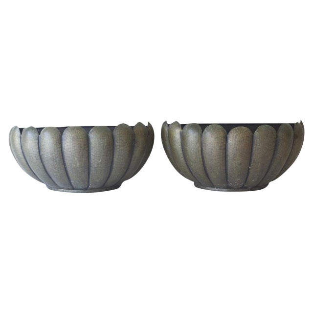 Mid-Century Modern Wall Planters - A Pair - Image 1 of 5