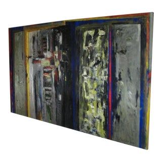 Monumental PEREZ CELIS Two-Panel Oil on Canvas (signed)