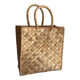 Sea Grass Woven Market Tote Basket