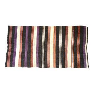 Striped Flat Weave Rug - 4′6″ × 8′6″