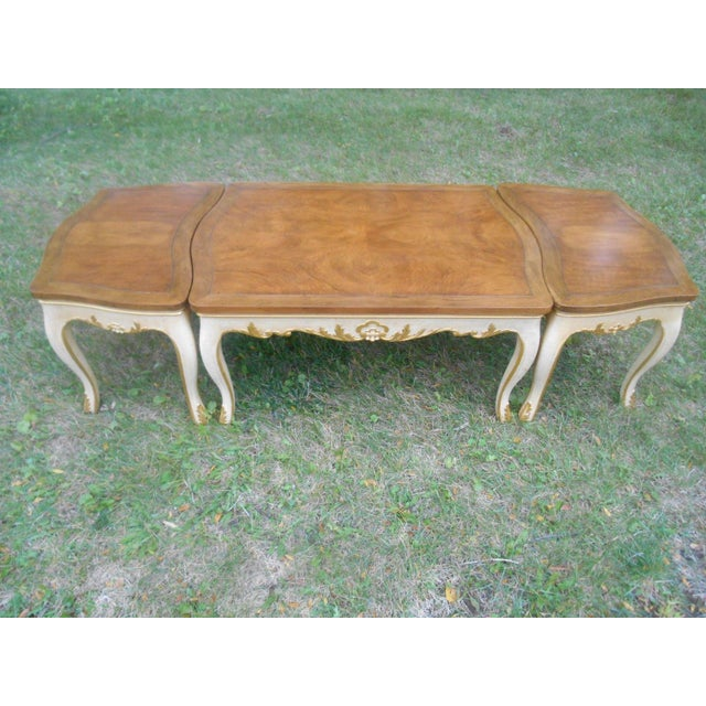 Baker Furniture French Regency Collector Series 3 Piece Coffee Table - Image 5 of 10