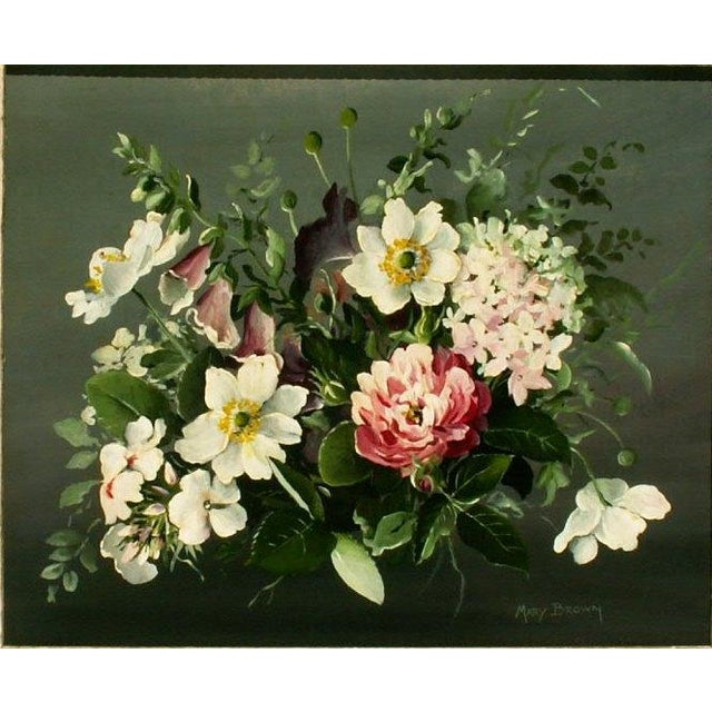 Image of Floral Oil Painting by Mary Brown