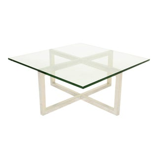 """x"" Aluminum Coffee Table After Paul Mayen"
