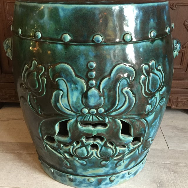 Image of Southern China Green Ceramic Garden Stool