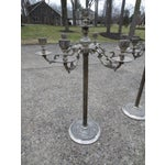 Image of Mid-Century Silverplated Candelabras - A Pair