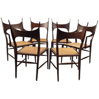 Rare Set of Six Edward Wormley 5580 Dining Chairs for Dunbar