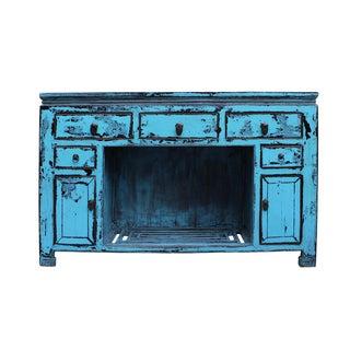 Oriental Rustic Blue Credenza