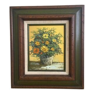Vintage Frame Floral Painting