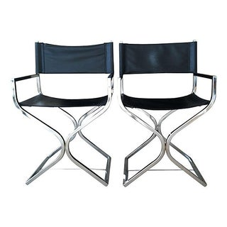MCM Chrome Director's Chairs - A Pair