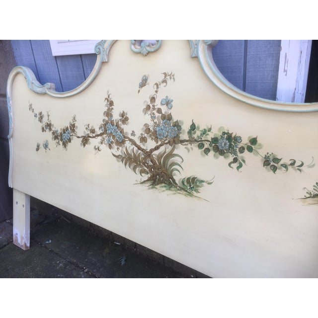 Asian Style Hand Painted King Headboard - Image 7 of 7