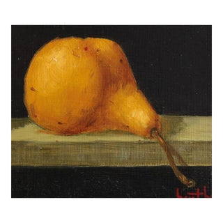 """1939 Signed Bert Beirne """"Bosc Pear"""" Oil Painting on Panel"""