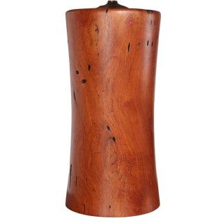 Hand-Crafted Mesquite Wood Lamp