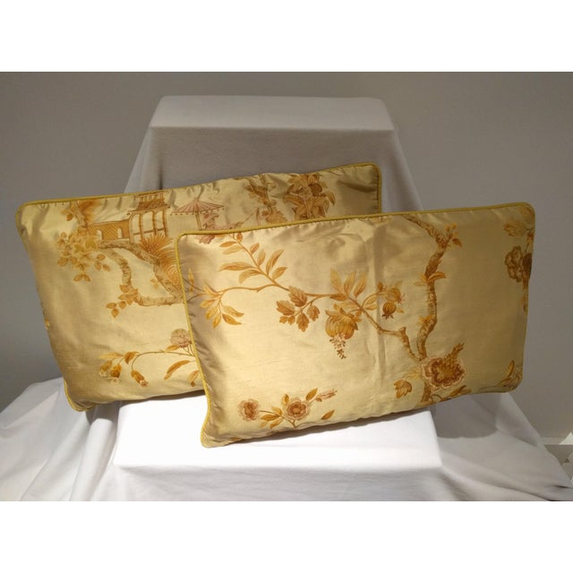 Image of Hand-Made Chinoiserie Pillow - Pair
