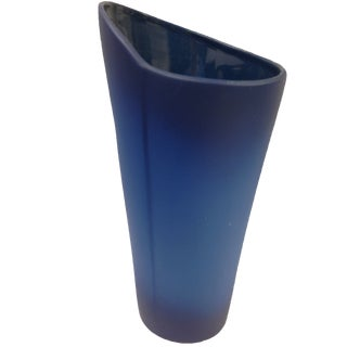 Antique Art Deco Navy Blue Ceramic Vase