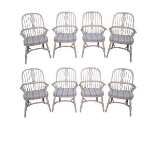 Ralph Lauren for Henredon White Painted English Windsor Chairs - S/8
