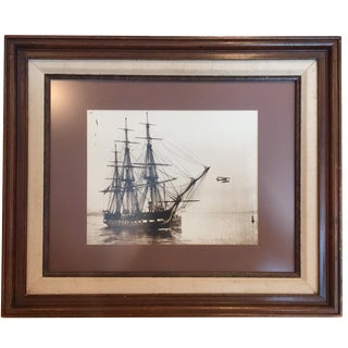 Antique Ship & Airplane Photograph
