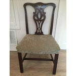 Image of Solid Mahogany Chippendale Dining Chairs - 6