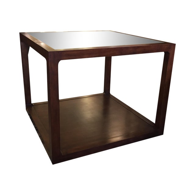 Custom Mirror Topped Side Table - Image 1 of 9