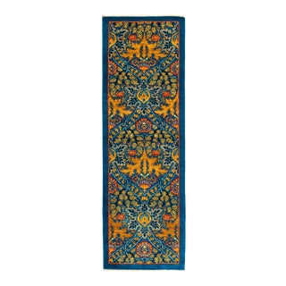 """Eclectic Hand Knotted Runner Rug - 2' 6"""" x 7' 9"""""""