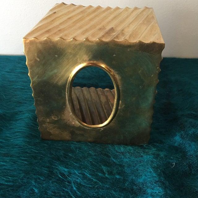 Brass Minimalist Tissue Box Holder - Image 5 of 7