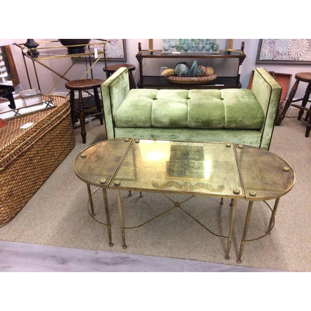 Vintage Oblong Gilded Coffee Table - Image 3 of 9