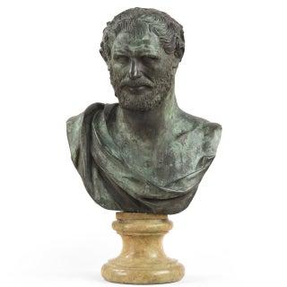 Classical Bronze Roman Statesman Sculpture