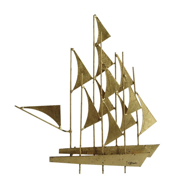 Mid-Century Ship Sculpture by Bowie - Image 1 of 6